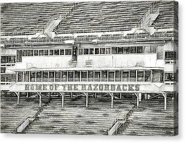 Donald W. Reynolds Razorback Stadium Canvas Print