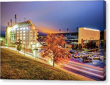 Donald W. Reynolds Stadium - Home Of The Arkansas Razorbacks College Football Team Canvas Print
