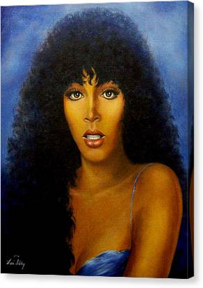 Donna Summers Canvas Print by Loxi Sibley