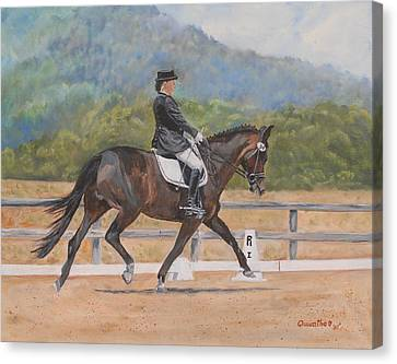 Canvas Print featuring the painting Donnerlittchen by Quwatha Valentine