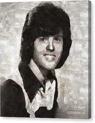 Thriller Canvas Print - Donny Osmond, Singer by Mary Bassett