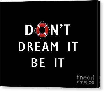 Don't Dream It Be It Rocky Horror Picture Show Tee Canvas Print by Edward Fielding