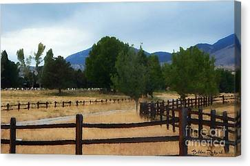 Dont Fence Me In Painting Canvas Print