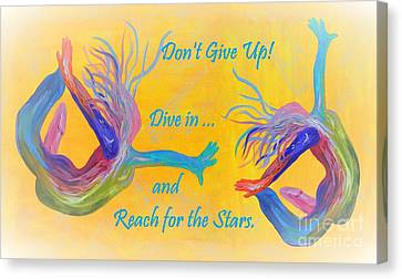 Don't Give Up Canvas Print by Eloise Schneider