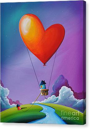Don't Let Love Slip Away Canvas Print by Cindy Thornton