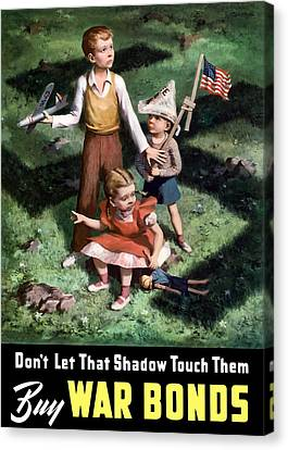 Don't Let That Shadow Touch Them Canvas Print by War Is Hell Store