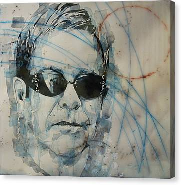 Canvas Print featuring the painting Don't Let The Sun Go Down On Me  by Paul Lovering