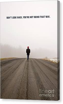 Don't Look Back Canvas Print by Edward Fielding
