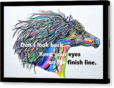 Don't Look Back Canvas Print by Eloise Schneider