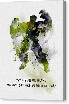 Don't Make Me Angry Canvas Print by Rebecca Jenkins
