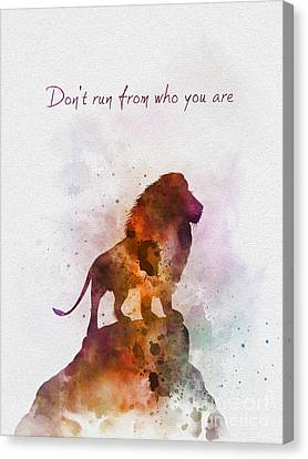 Fairy Canvas Print - Don't Run From Who You Are by Rebecca Jenkins