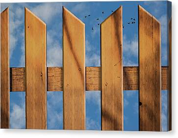 Canvas Print featuring the photograph Don't Take A Fence by Paul Wear