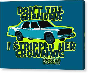 Don't Tell Grandma Canvas Print by George Randolph Miller