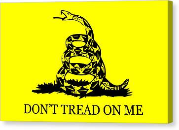 Don't Tread On Me Flag Canvas Print by War Is Hell Store