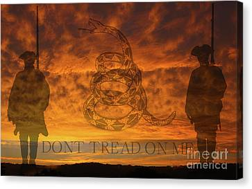 Don't Tread On Me Sunset Canvas Print by Randy Steele