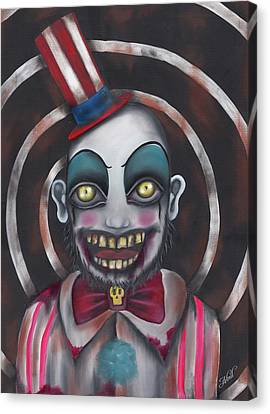 Don't You Like Clowns?  Canvas Print by Abril Andrade Griffith