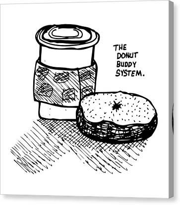 Donut Buddy System Canvas Print by Karl Addison