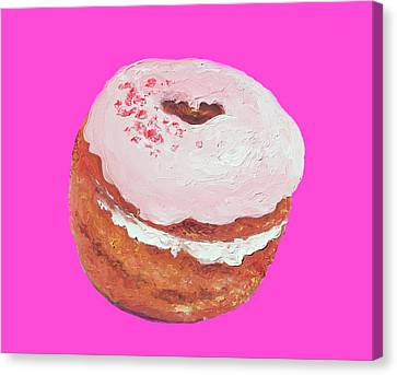 Donut Painting Canvas Print