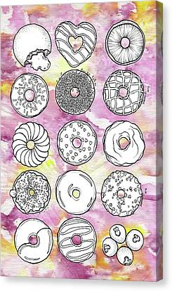 Donuts Or Doughnuts? Canvas Print by Dthe Vyda Crystal
