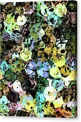 Indian Ink Canvas Print - Doodads by Leslie Montgomery