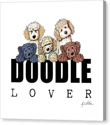 Doodle Lover Canvas Print by Kim Niles