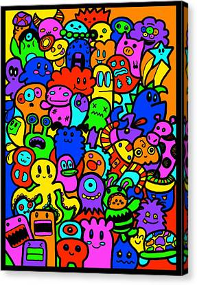 Doodling Canvas Print by Stephanie Brock