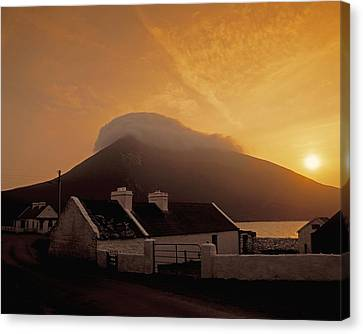 Doogort And Slievemore, Achill Island Canvas Print