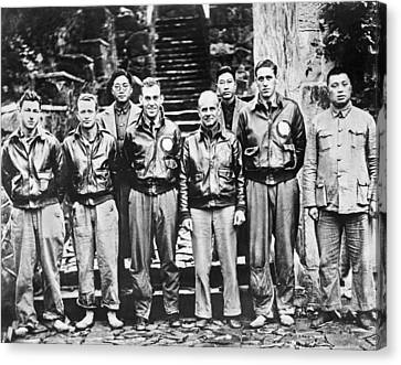 Doolittle's Raiders In China Canvas Print by Underwood Archives