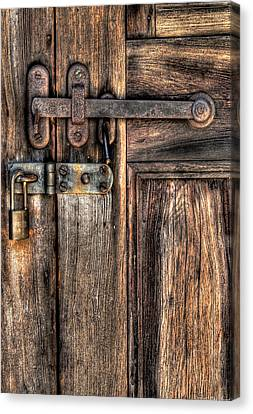 Door - The Latch Canvas Print by Mike Savad