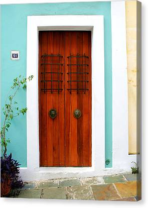 Puerto Rico Canvas Print - Door 51 by Perry Webster