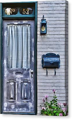 Overhang Canvas Print - Door 52 by Paul Ward