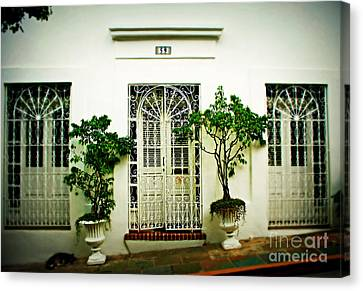 Puerto Rico Canvas Print - Door 59 by Perry Webster