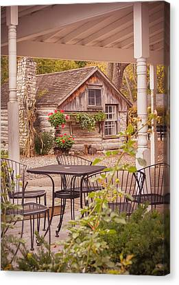 Canvas Print featuring the photograph Door County Thorp Cottage by Heidi Hermes