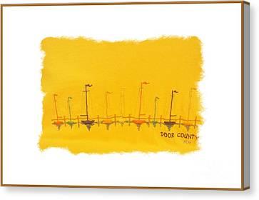 Canvas Print featuring the mixed media Door County Sail Boats by Marsha Heiken