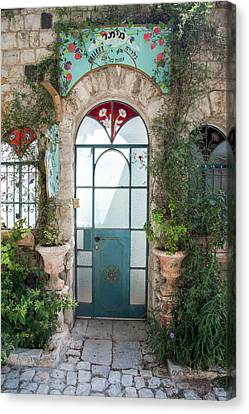 Canvas Print featuring the photograph Door Entrance To The Art by Yoel Koskas