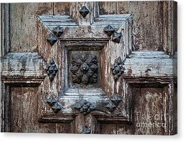 Canvas Print featuring the photograph Door Fragment Of The Church Of The Jacobins by Elena Elisseeva