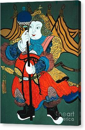 Canvas Print featuring the painting Door Guard No.2 by Fei A