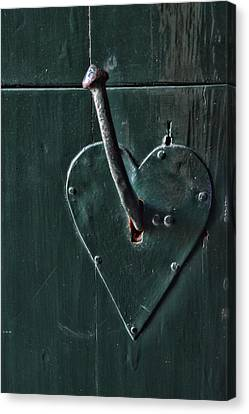 Vintage Canvas Print - Door Handle by Mihaela Pater