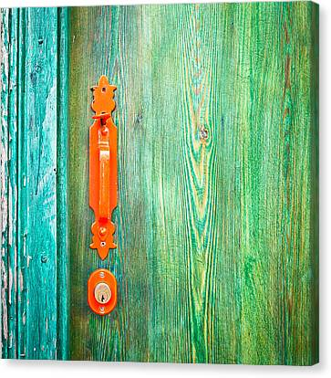 Door Handle Canvas Print by Tom Gowanlock