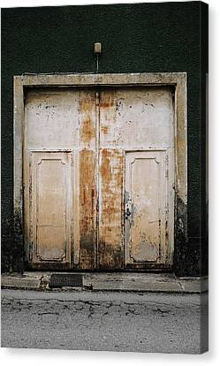 Canvas Print featuring the photograph Door No 163 by Marco Oliveira