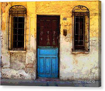 Door On Mariano 2 By Darian Day Canvas Print by Mexicolors Art Photography