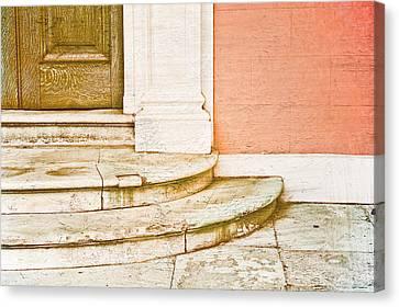Door Steps Canvas Print by Tom Gowanlock