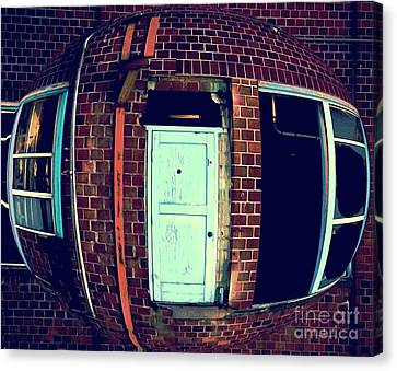 Canvas Print featuring the photograph Door To Nowhere by Yulia Kazansky