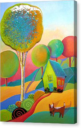 House Pet Canvas Print - Door To Our House by Anne Nye