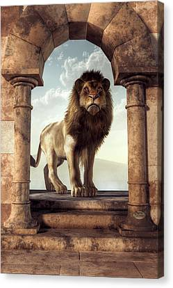 Door To The Lion's Kingdom Canvas Print
