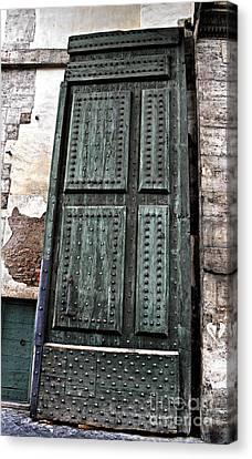 Door To The Roman Gateway Canvas Print