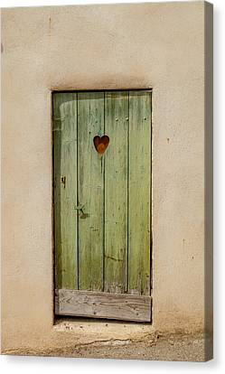 Beaujolais Canvas Print - Door With Heart In Ancy by W Chris Fooshee