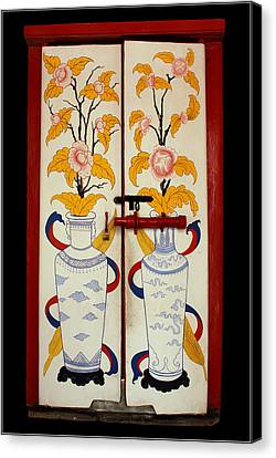 Door With Two Vases Canvas Print by Ty Lee