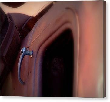 Canvas Print featuring the photograph Doorhandle Nostalgia.. by Al Swasey