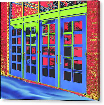 Canvas Print featuring the digital art Doorplay by Wendy J St Christopher